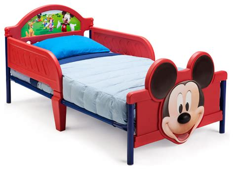 safe toddler bed safe cute low profile plastic metal mickey mouse toddler bed children furniture