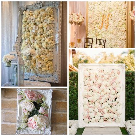 Wedding Decor And Flowers by Flower Wall In A Frame The Wedding Prop Or Home