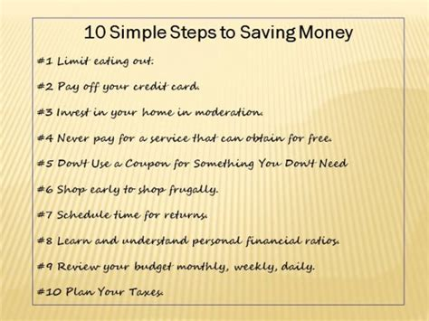 money saving tips  practices personal finance