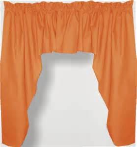 orange swag window valance set