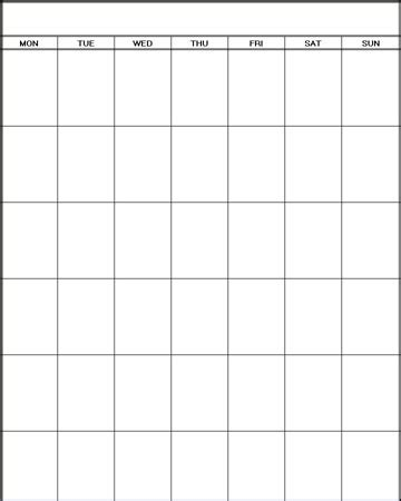 printable calendar vertical blank | calendar template 2018