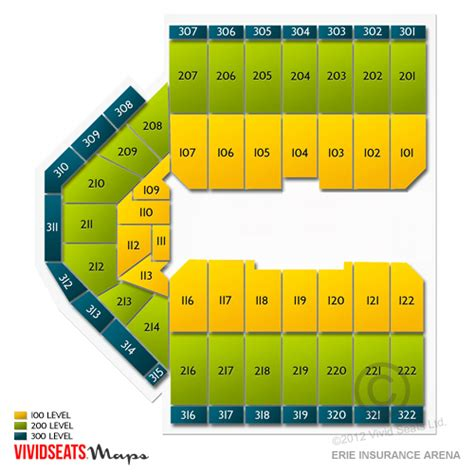 erie insurance arena seating erie insurance arena tickets erie insurance arena