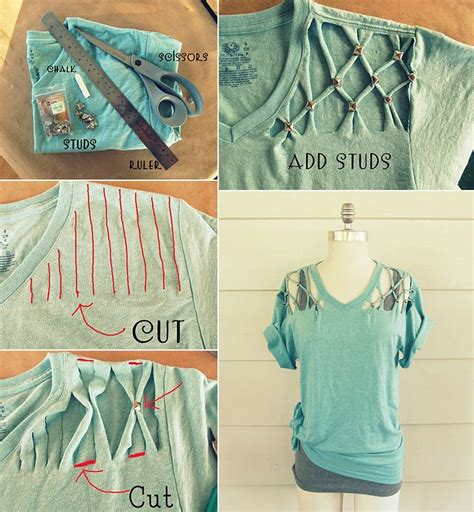 diy t shirt customizing hacks and ideas