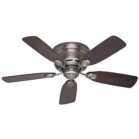 Hunter Low Profile Iv 42 In Indoor Antique Pewter Ceiling Pewter Ceiling Fan