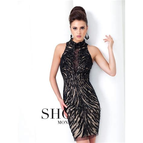 Dress Pesta Ready Stock tony bowls ts11593 in stock ready to ship tony bowls high neck and cocktail fitted