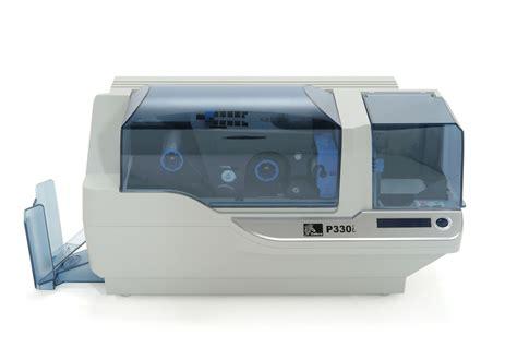 card printer zebra p330i single sided card printer