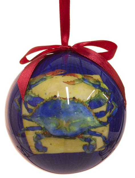 blue crab high gloss resin christmas ornament ebay