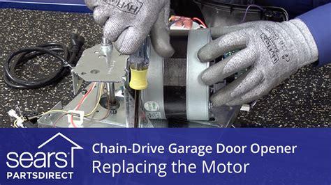 Lost Garage Door Opener How To Replace Replacing The Motor On A Chain Drive Garage Door Opener