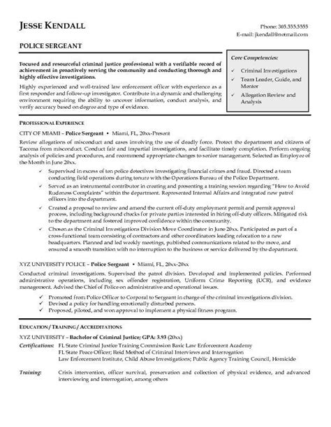 exles of law enforcement resumes exles of resumes