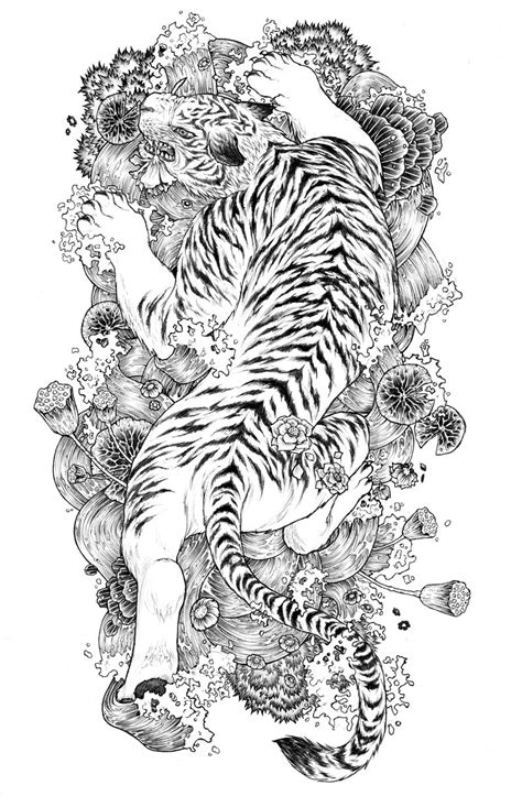 dragon and tiger tattoo designs cullen aiden