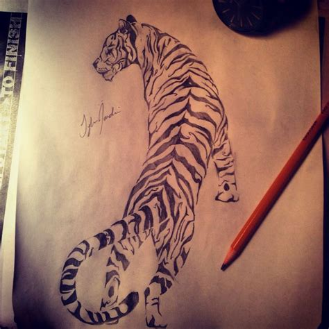 tribal tiger design tattos