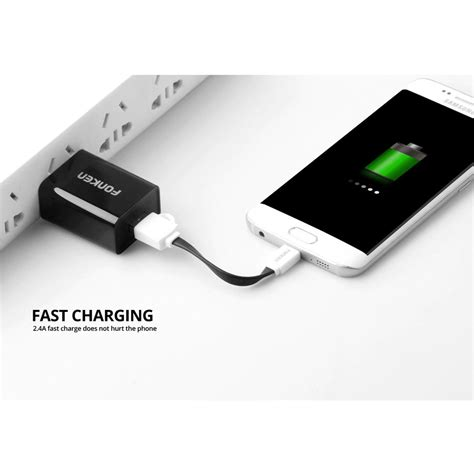 Power Bank Unik fonken kabel charger micro usb 10cm khusus power bank fk mtx az black jakartanotebook