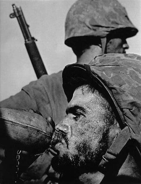 79 best images about w eugene smith on 187 american soldier drinking from a canteen