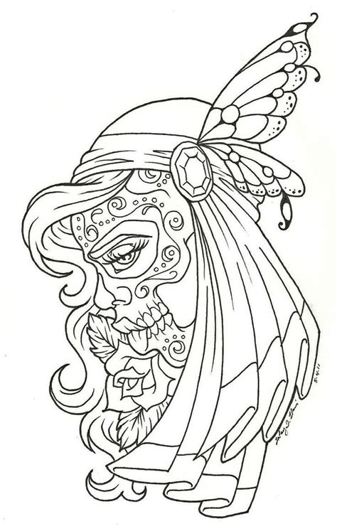 google coloring pages for adults sugar skull girl coloring pages google search gs