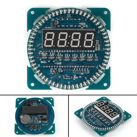 Paling Murah Ds1302 Module Blue Board Ds 1302 Rtc Real Time Clock diy ds1302 rotation led 201 lectronique clock kit 51 scm learning board module ebay