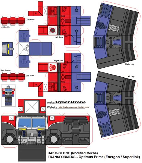 Transformers Papercraft Optimus Prime - hako clone optimus prime energon by cyberdrone on