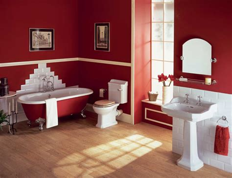 red bathroom decorating ideas intensive red bathroom design ideas photos