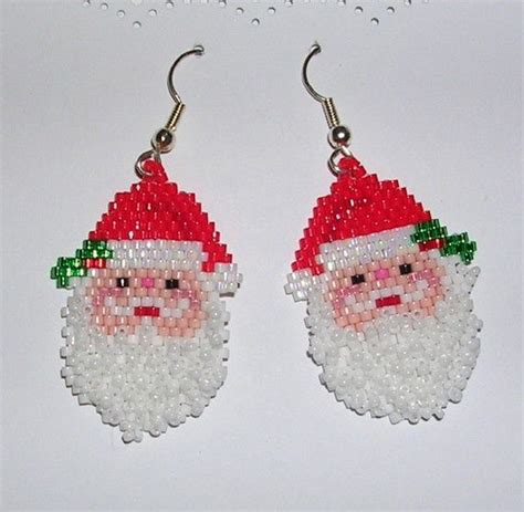 pattern for beaded christmas earrings 567 best images about christmas bead work on pinterest