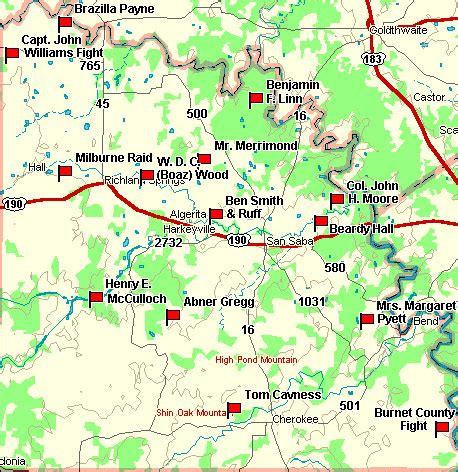 san saba texas map fort tours san saba county