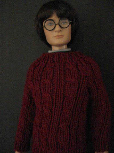 Sweater Mm Maroon Abu harry s cable sweater from sorcerer s for 16 quot 40 64 cm doll the leaky cauldron org