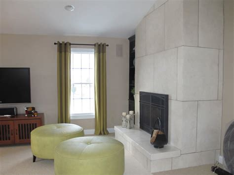 contemporary faux stone fireplace
