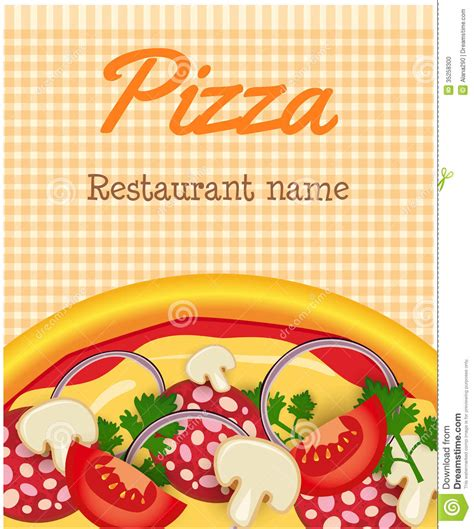 menu template with pizza stock photo image 35258300