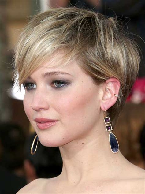 instructions for jennifer lawrece short haircut jennifer lawrence with short hair cuts hair pinterest