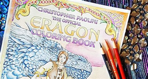 printable eragon bookmark these incredible fan colored eragon coloring book covers