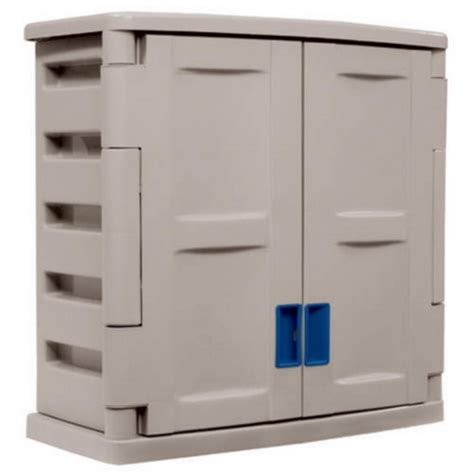 new large plastic 2 door utility storage cabinet with