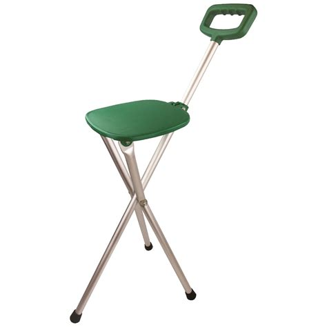 Walking Stick Stool highlander easy rest seat stick stool hiking walking fishing cing aluminium ebay