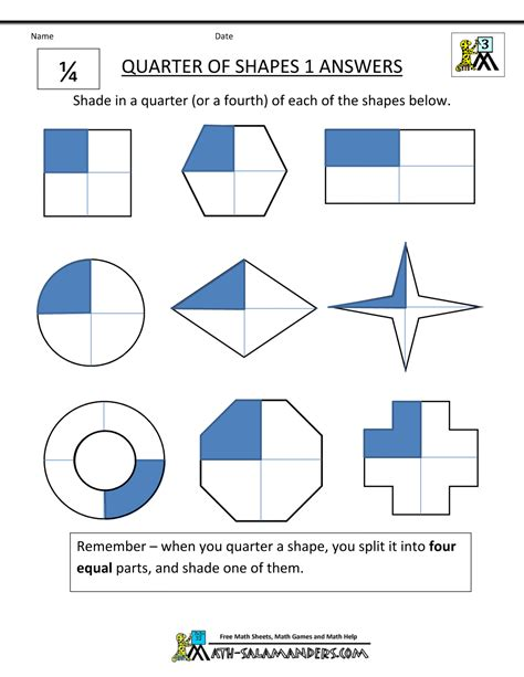 describe each pattern using words fraction shape worksheets