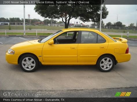 nissan sentra yellow sunburst yellow 2006 nissan sentra 1 8 s special edition