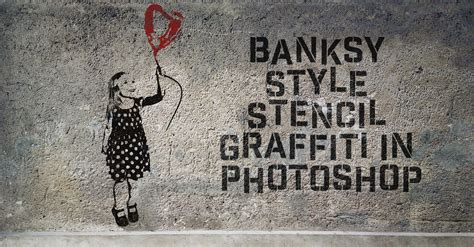 banksy style stencil graffiti effect  photoshop