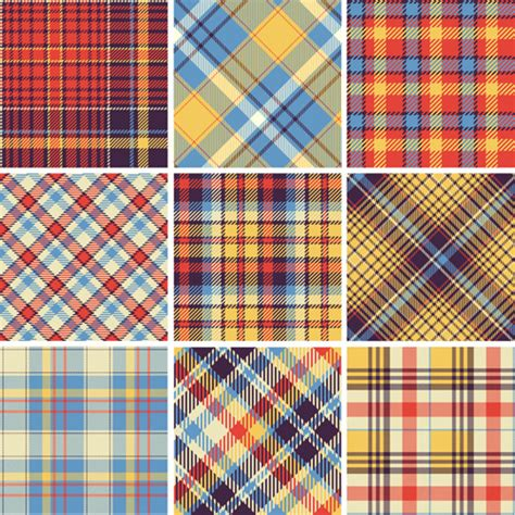 plaid design plaid fabric patterns seamless vector free vector in