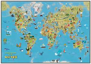 Map If The World by Kids Cartoon Map Of The World By Maps International