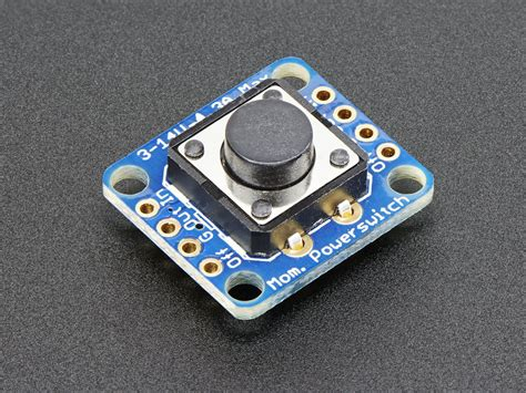 Power Push Button Switch On adafruit push button power switch breakout id 1400 5