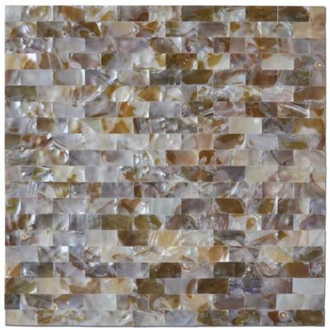 Self Adhesive Kitchen Backsplash Art3d Peel And Stick Mother Of Pearl White Shell Mosaic