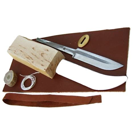 Knife Making Kit   9cm Steel Blade   Greenman Bushcraft