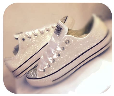 white sparkly shoes sparkly white glitter converse all wedding