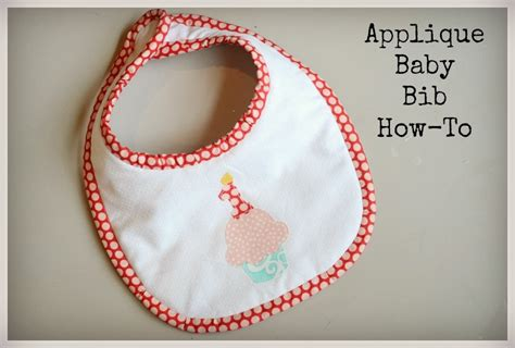 how to sew applique applique baby bib sewing tutorial in stitches