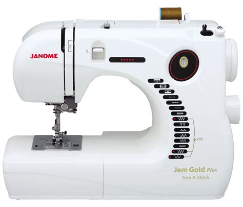 compact sewing machine janome jem gold plus portable sewing machine with light