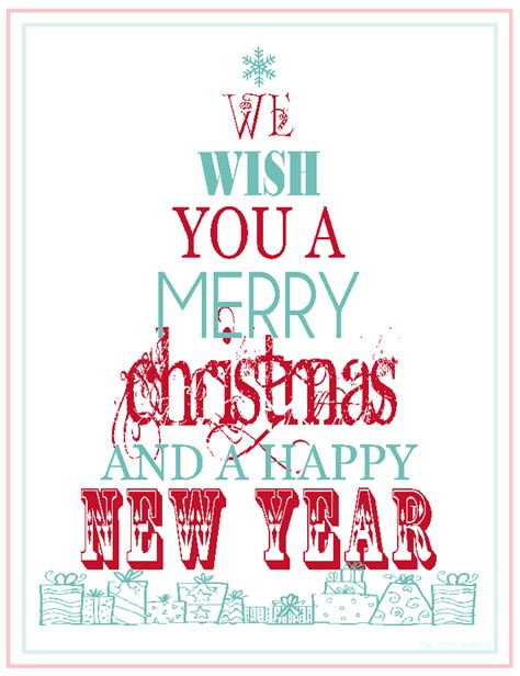 avenue  printable merry christmas happy  year   avenue