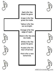 easter cross template printable a delicious melody easter craft poem and song