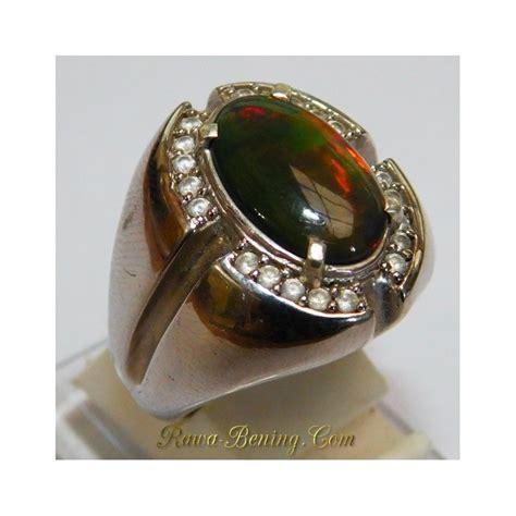 Bahan Black Opal Get 1 Free 5 Pcs by Cincin Pria Exclusive Silver 925 3d Black Opal Model Etnik