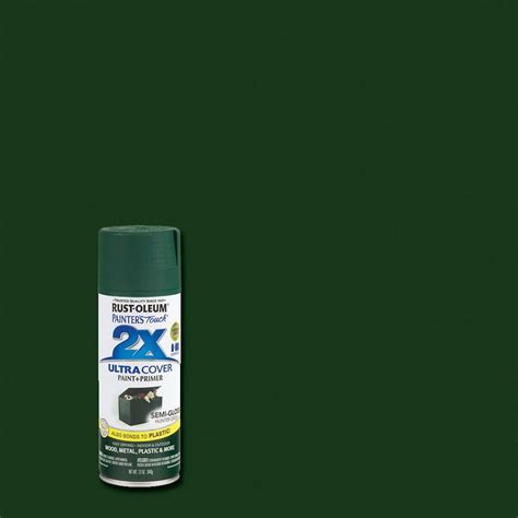 rust oleum painter s touch 2x 12 oz gloss meadow green general purpose spray paint 249100 the