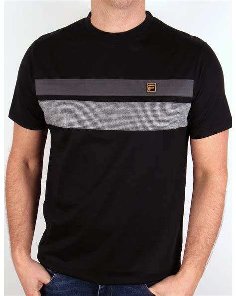 Black Fila Shirt Limited fila gold piaggo t shirt black mod mens