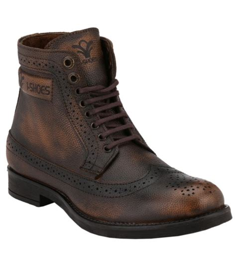 rugged casual boots ishoes rugged brown boots available at snapdeal for rs 1777