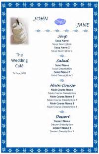 Free Wedding Menu Templates For Microsoft Word by Menu Word Templates Free Word Templates Ms Word