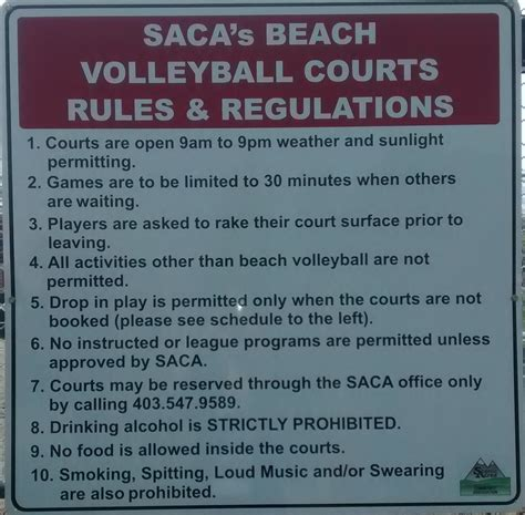 and regulations courts saca scenic acres community