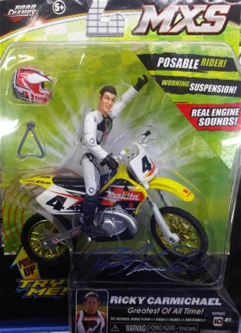 motocross action figures dirt bikes ricky carmichael motocross supercross mx